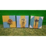Selection of Smaller Flower Pictures on the Canvas