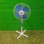 Large Foot Blue White Fan
