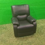 Black Leather Recliner Armchair