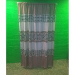 Polyester Curtain Brown-White (300x280)