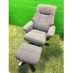Swivel Armchair Set (Dark Gray)