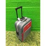 Keskmine hall-punane reisikohver