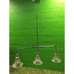 High silver ceiling light with 3 glass jars