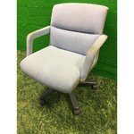 Light armchair office chair on wheels