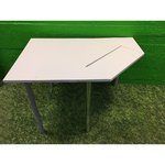 Light gray office bench with monitored base