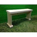 Light solid wood bench