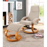 Beige Rotating Armchair