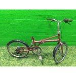Remontivajav punane jalgratas kokkupandav