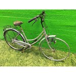 Repair a gray retro bike