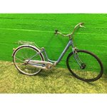 Spare part blue bicycle with luggage carrier