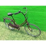 Dark red retro bicycle 24 ""