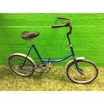 Retro blue folding bicycle Desna