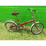 Small red bike folding