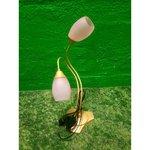 Розовая двухзарядная настольная лампа