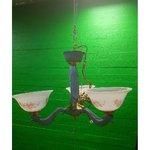 Цветочная потолочная лампа с 3 палочками