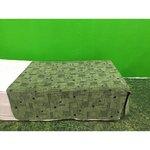 Roheline kolmveerand kattev voodikate