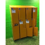 Large metal 8-door wardrobe set