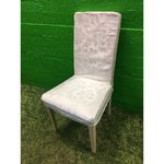 White coated soft chair