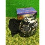 Mustavalkoinen moottoripyörä kypärä Nitro N330-VX (koko M)