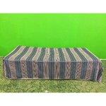 Blue velvet full-length bedding