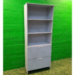High gray office cabinet with 2 document trays