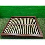 Brūns gultas bokoncepts (160x200 cm)