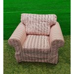 Pink wide armchair