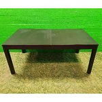 Big black dining table
