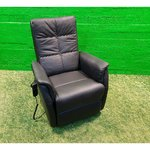 Black armchair comoda recliner