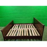 Dark Brown Solid Wood Bed (200x180)