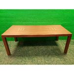 Brown lined dining table