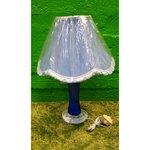 Синяя большая настольная лампа