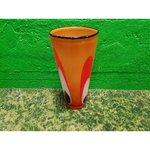 Оранжевая цветочная ваза