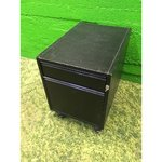 Lockable black drawer box on wheels