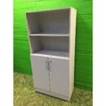 Light gray office cabinet with shelves (Key available)