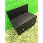 Black low cabinet with 2 drawers