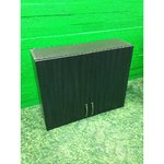 Darker brown wider cabinet