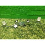 Silver ceiling lamp with 4 movable cap, 2 bundles missing