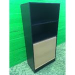 Black upper office cabinet with bright lockable grip