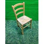 Hele puidust tool punutud istmega