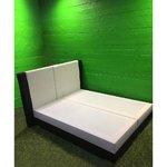 Lai mustvalge voodi valgustusega 160x200