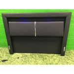 Black leather coated bed with blue LED light