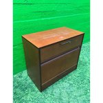 Dark red office cup with sliding door and drawer