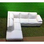 Сделать белый диван-кровать с кожаным покрытием