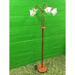 Brown floor lamp with 5 glasses