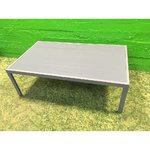 Metal sofa table with tempered glass