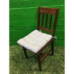 Tumepruun täispuit tool padjaga