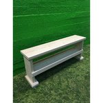 Untreated solid wood with bench shelf