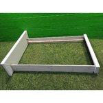 Valge täispuit külgedega voodiraam (120x200 kušetile)