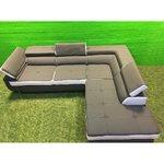 Большой серо-белый угловой диван-кровать